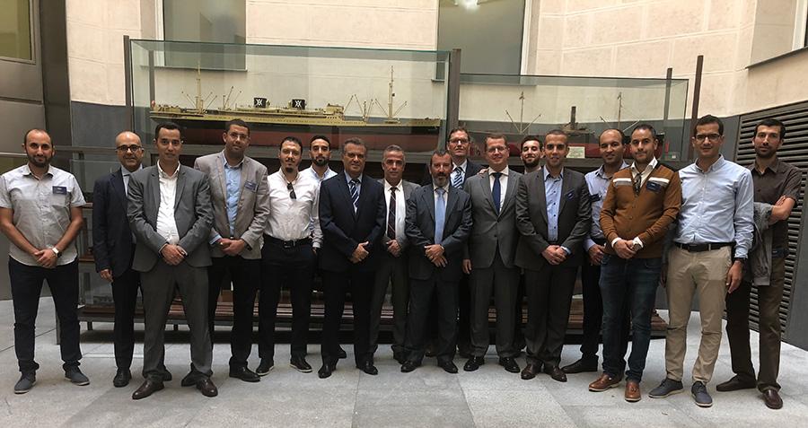 Profesionales de la Agencia Nacional de Puertos de Marruecos realizan un programa de formación con BERGÉ
