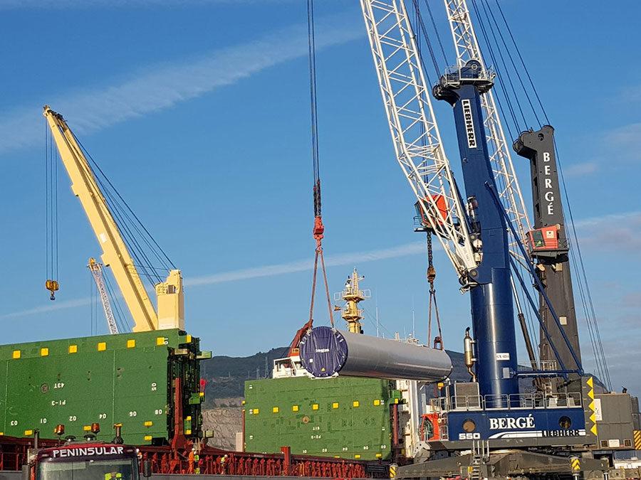 BERGÉ embarca el primer proyecto internacional de torres eólicas de HAIZEA WIND