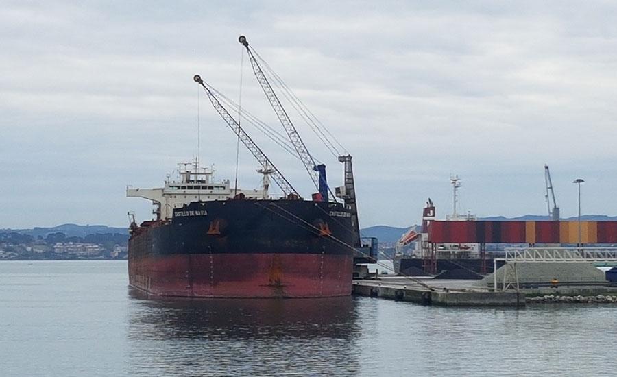 BERGÉ gestiona en Santander el buque más grande de la compañía Global Steel Wire