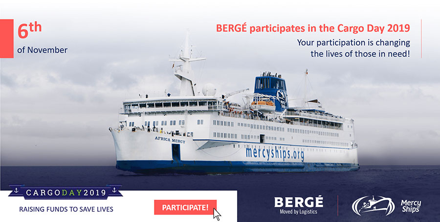 BERGÉ to take part in the Mercy Ships Cargo Charity Day