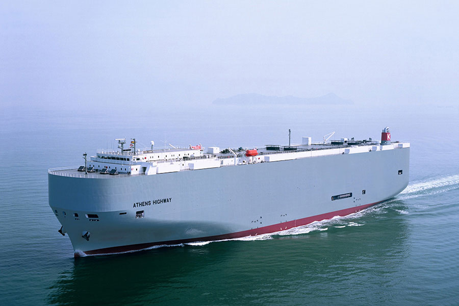 """K"" Line Car Carrier starts the year with three calls in the Port of Santander"