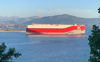 """K"" Line Car Carrier will visit Santander on Saturday,  the first of three visits planned over the course of one month"