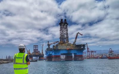 "BERGÉ is promoting its ""offshore"" business with the Canary Islands as a global hub for the repair of oil rigs"