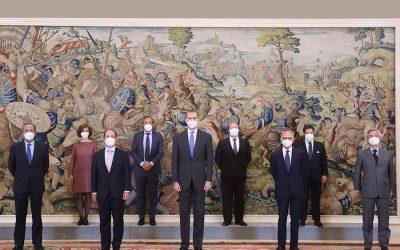 His Majesty King Felipe VI welcomes the Board of Directors of BERGÉ y Compañía